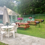 Americas Best Value Inn & Suites Lake George Picnic Tables and BBQs