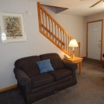 1,100 square foot townhouse - Stairs and couch