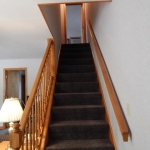1,100 square foot townhouse - Staircase