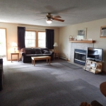 1,800 Sq. ft., 4 bedroom townhouse - Living area with fireplace