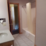 1,800 Sq. ft., 4 bedroom townhouse - View form inside the bathroom