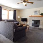 2,000 sq. ft. townhouse with 4 bedrooms - Fireplace seating area