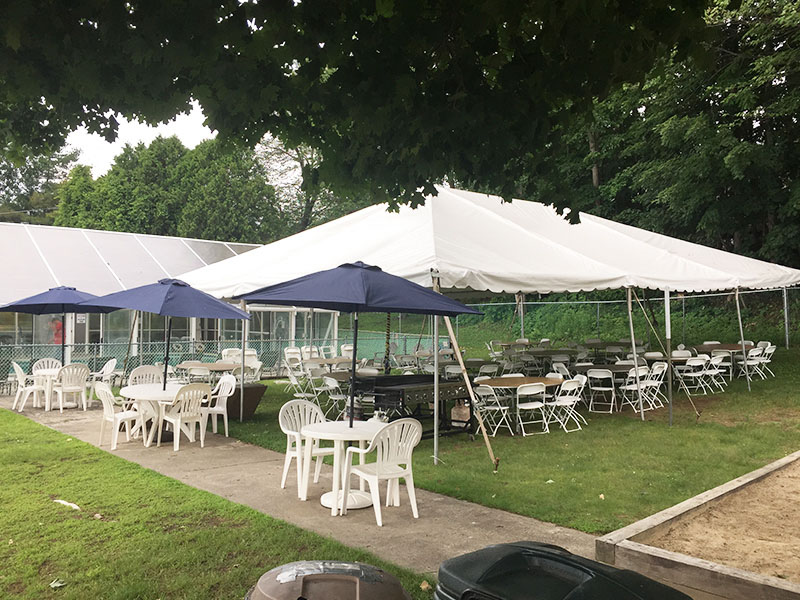 Event area with tents