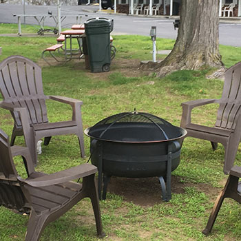 Photo of fire pit area