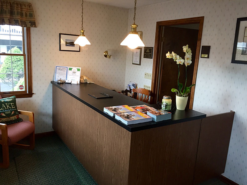 Front Desk and front of lobby