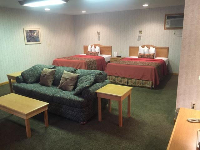 Deluxe Queen Suite - Couch and beds