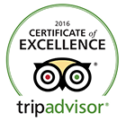 Award - 2016 Certificate of Excellence - TripAdvisor